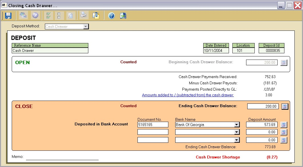 Closing And Posting A Cash Drawer