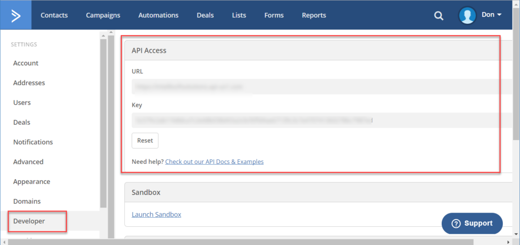 How to Link ManageMore with Active Campaign - SMS / Email