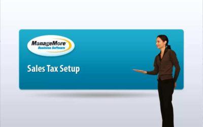 Sales Tax Setup – Video Tutorial